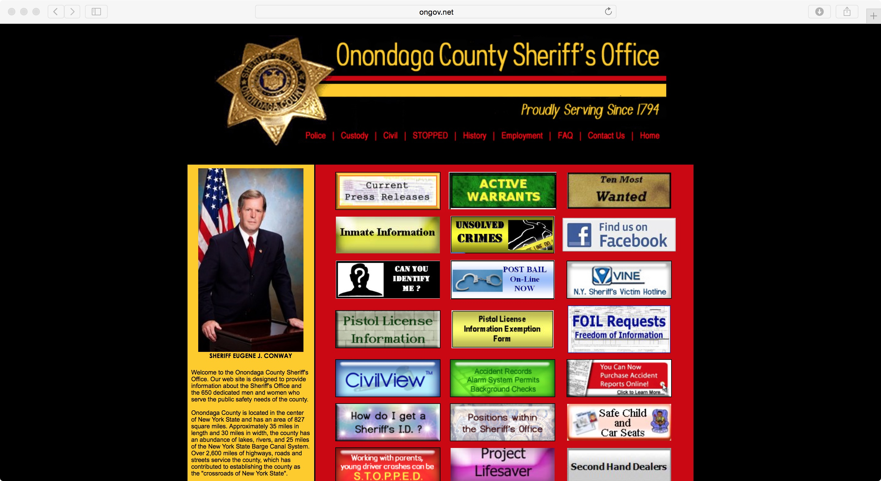 Onondaga County Sheriff old website 12-26-15