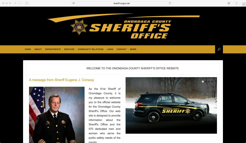 sheriff website wordpress