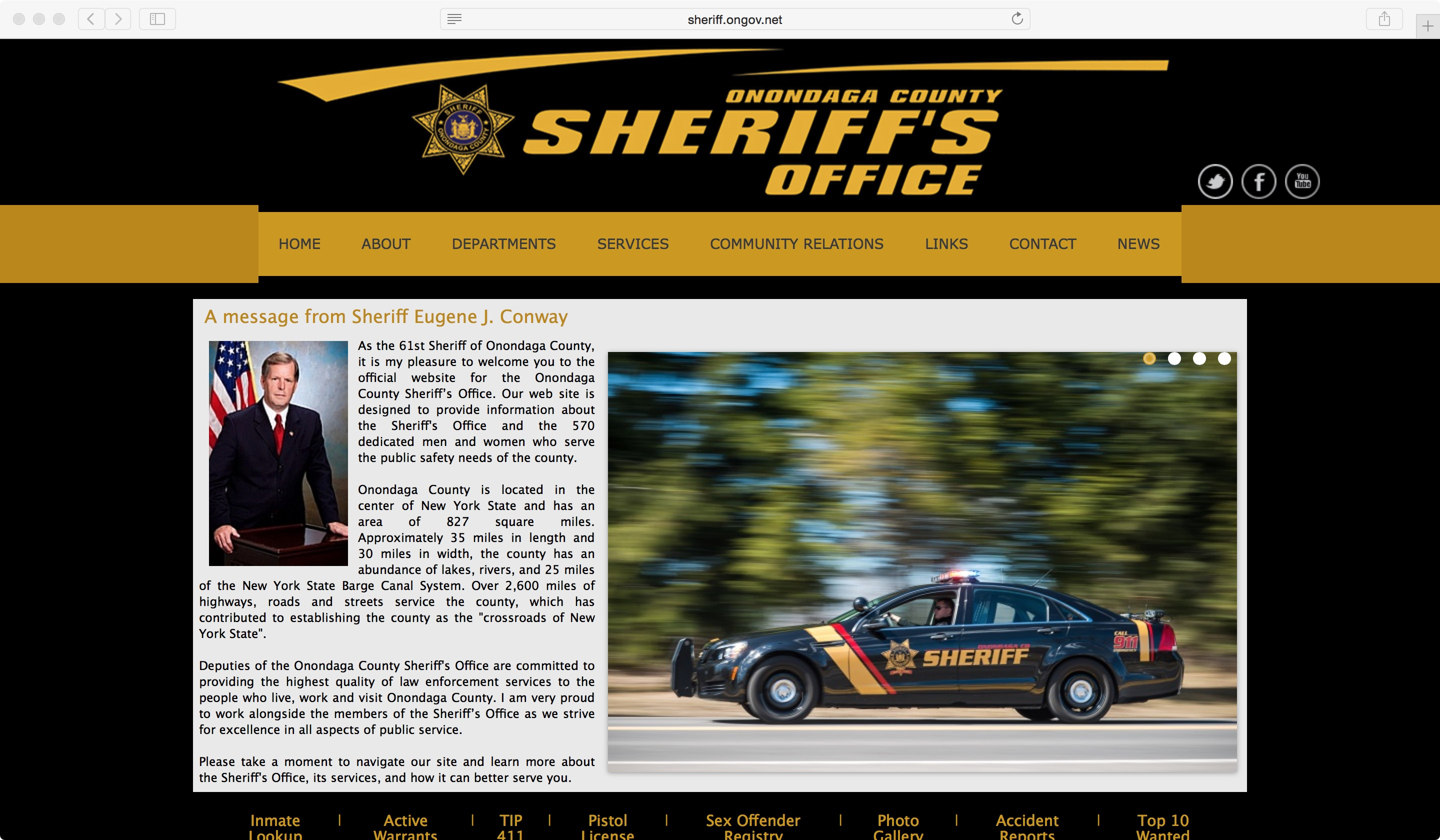 Onondaga County Sheriff new website 1-1-16